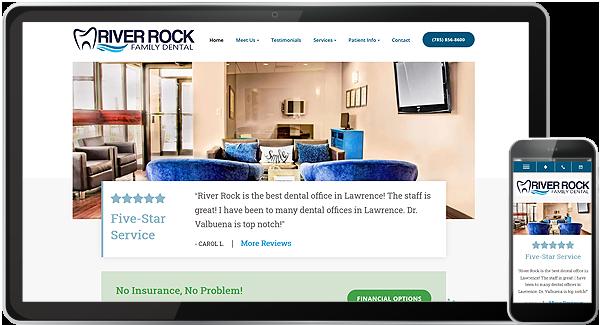 River Rock Family Dental Website